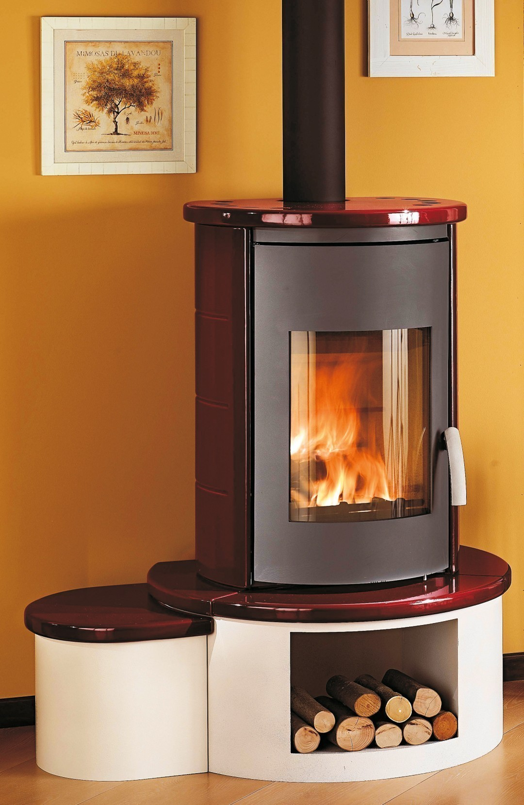 kaminofen wamsler kf 101 rona keramik bordeaux 8 kw bei. Black Bedroom Furniture Sets. Home Design Ideas