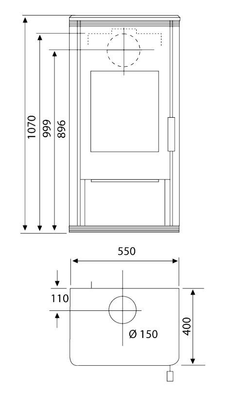 Kaminofen Wamsler KF 101 Trion H gussgrau 8 kW Bild 2