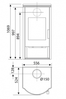 kaminofen wamsler kf 101 wega aps stahl naturstein 8 kw bei. Black Bedroom Furniture Sets. Home Design Ideas