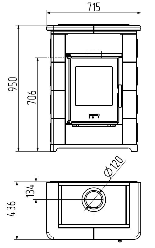 Kaminofen Wamsler KF 108 Montafon schwarz / Keramik Creme 7kW Bild 2