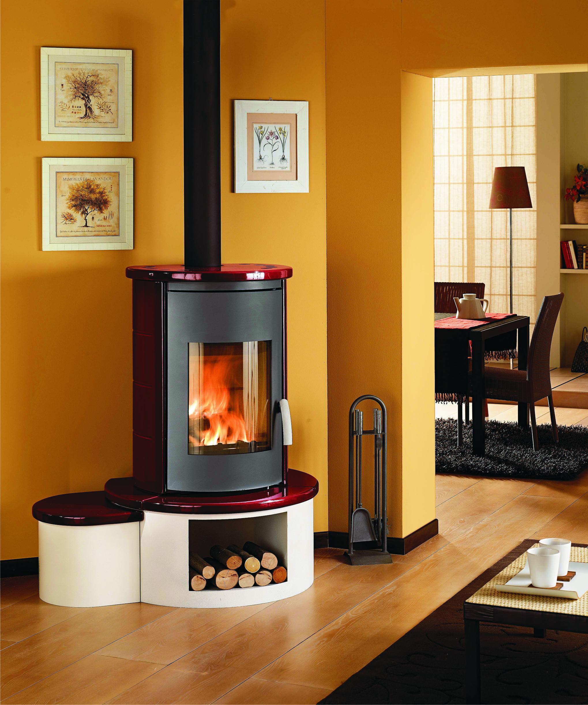 kaminofen wamsler kf 111 rona keramik bordeaux 6 kw bei. Black Bedroom Furniture Sets. Home Design Ideas