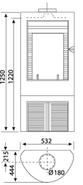 Kaminofen Wamsler KF 188 Arles Guss grau 10 kW Bild 2