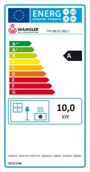 Kaminofen Wamsler KF 188 Arles Guss grau 10 kW Bild 4