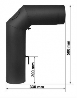 Ofenrohr / Rauchrohr Set II Standard Ø150mm Senotherm schwarz