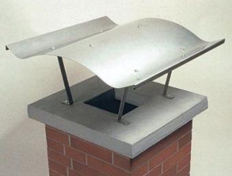 Kamindach Edelstahl 70x67cm Bild 1