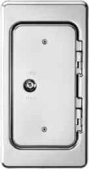 Kamintür K11 Edelstahl V2A Vierkantverschluss Einbaumaß 110x250mm Bild 1