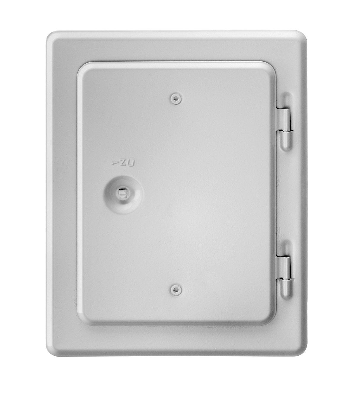 Kamintür K20/4 Edelstahl weiß Vierkantverschluss Einbaumaß 140x200mm Bild 1