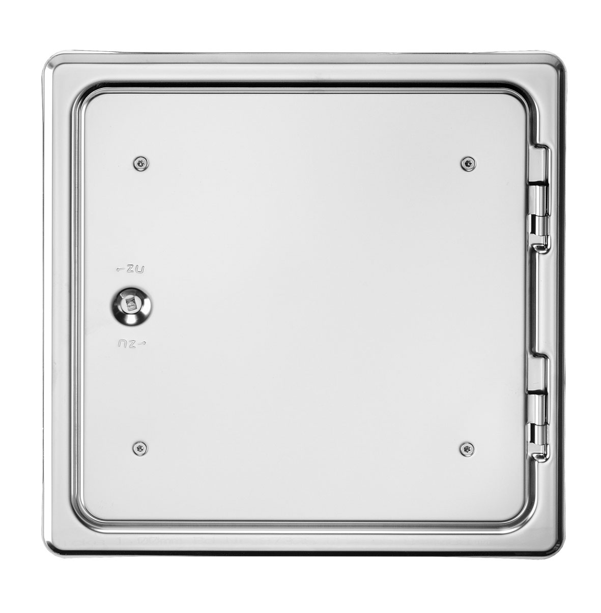 Kamintür K29/4 Edelstahl Vierkantverschluss Einbaumaß 300x300mm Bild 1