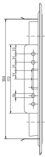 Kamintür K29/4 Edelstahl Vierkantverschluss Einbaumaß 300x300mm Bild 3