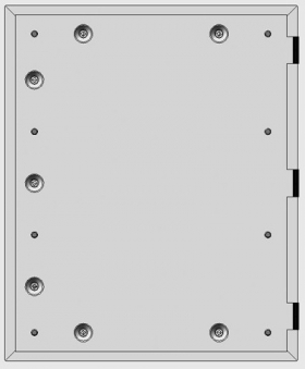 Kamintür K60/4 Edelstahl Vierkantverschluss Einbaumaß 485x600mm Bild 1