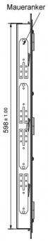 Kamintür K60/4 Edelstahl Vierkantverschluss Einbaumaß 485x600mm Bild 3