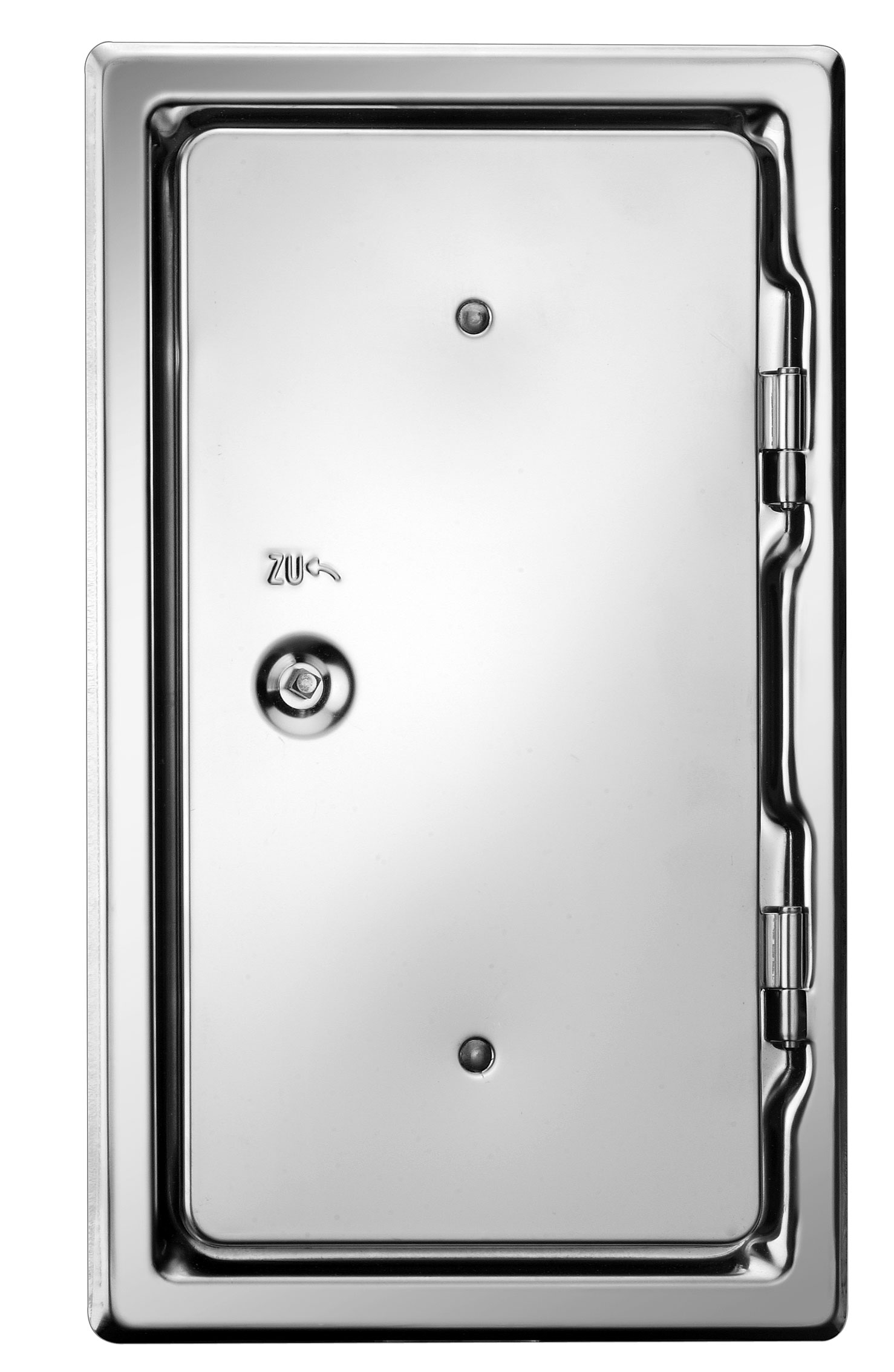 Kamintür K10.24 verzinkt Vierkantverschluss Einbaumaß 100x240mm Bild 1