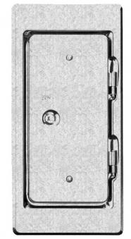 Kamintür K11 verzinkt Vierkantverschluss Einbaumaß 110x250mm Bild 1