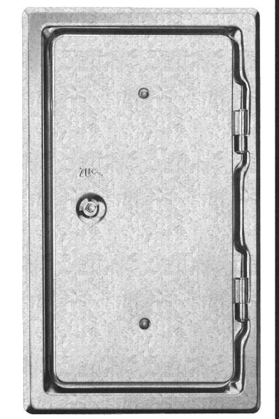 Kamintür K14/4 verzinkt Vierkantverschluss Einbaumaß 150x300mm Bild 1