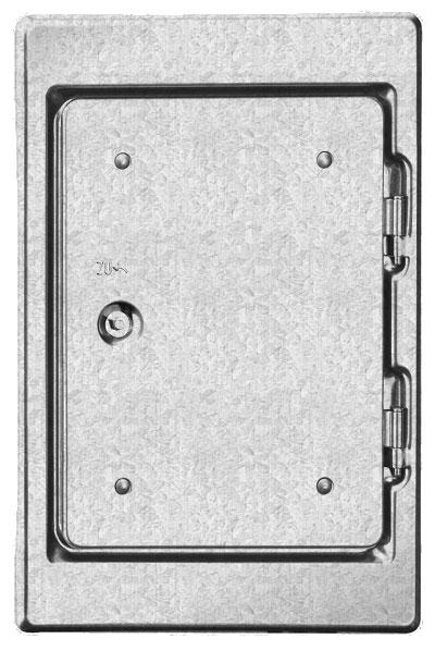 Kamintür K18 verzinkt Vierkantverschluss Einbaumaß 180x250mm Bild 1