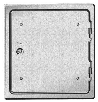 Kamintür K29/4 verzinkt Vierkantverschluss Einbaumaß 300x300mm Bild 1