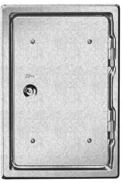 Kamintür K30/4 verzinkt Vierkantverschluss Einbaumaß 200x300mm Bild 1