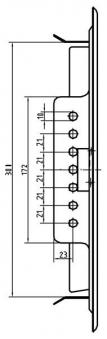 Kamintür K30/4 verzinkt Vierkantverschluss Einbaumaß 200x300mm Bild 3