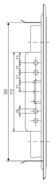 Kamintür K31/4 verzinkt Vierkantverschluss Einbaumaß 250x300mm Bild 3