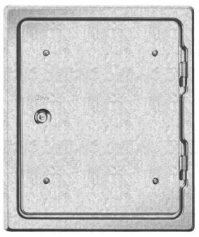 Kamintür K31/4 verzinkt Vierkantverschluss Einbaumaß 250x300mm Bild 1