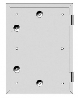 Kamintür K40/4 verzinkt Vierkantverschluss Einbaumaß 285x405mm Bild 1