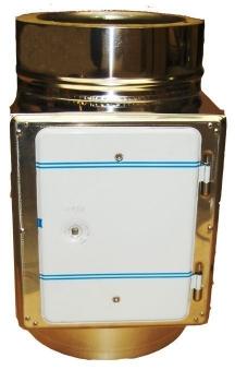 Reinigungsöffnung / Prüföffnung für Schornsteinverlängerung Ø 130 mm Bild 1