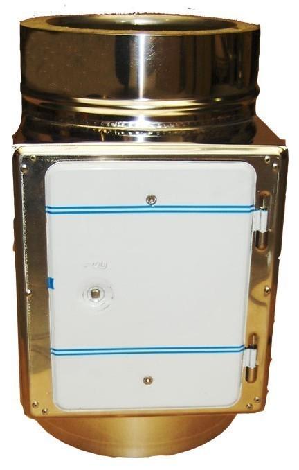 Reinigungsöffnung / Prüföffnung für Schornsteinverlängerung Ø 200 mm Bild 1