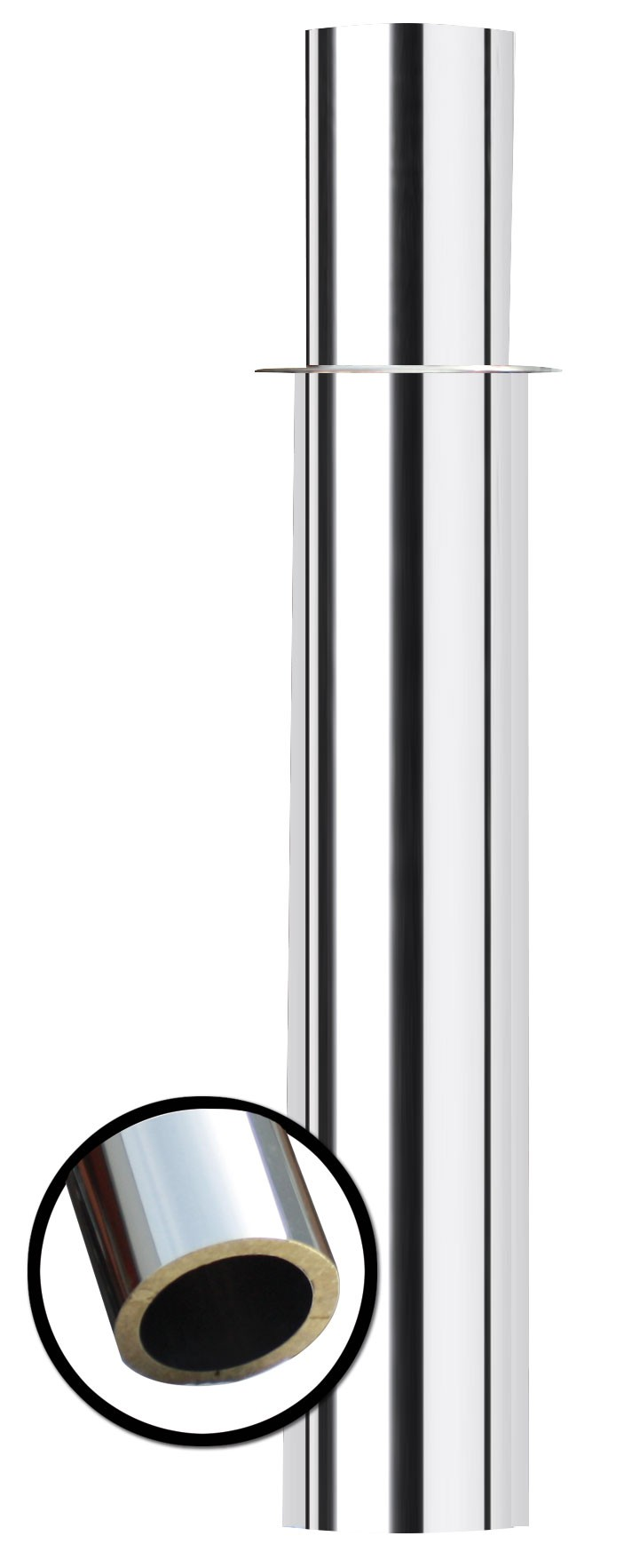 Verlängerungselement Edelstahl ohne Windkat 500 mm Ø 160 mm Bild 1