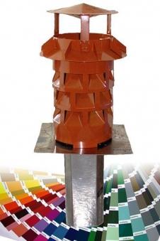 WINDKAT Kaminaufsatz V4A eckig 130 mm Stutzen 128x128 mm Farbe wählbar Bild 1