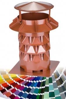 WINDKAT Kaminaufsatz V4A Ø 130 mm Farbe wählbar Bild 1