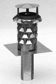 WINDKAT Kaminaufsatz V4A Edelstahl eckig 200 mm Stutzen 196 x 196 mm Bild 1