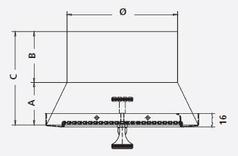 Zugbegrenzer Z6 Edelstahl mit rundem Anschlussstutzen Ø180mm Bild 3