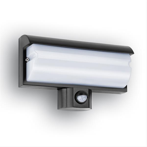 LED Sensorleuchte GEV LBO21679 mit Bewegungsmelder außen schwarz Bild 1