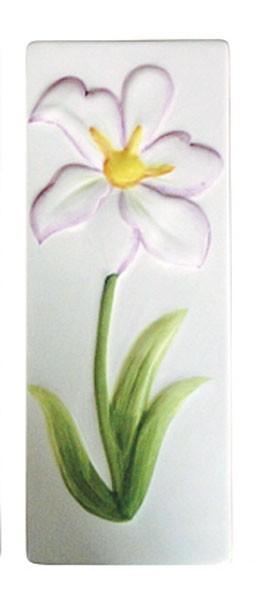 Luftbefeuchter / Verdunster Keramik mit Blumenrelief flach Bild 1