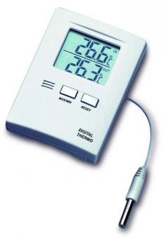Thermometer für Innen und Außen digital mit Außenfühler Bild 1