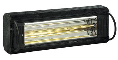 Burda Infrarot Kurzwellen Heizstrahler TERM2000 CVH IP20 schwarz 2 kW Bild 1