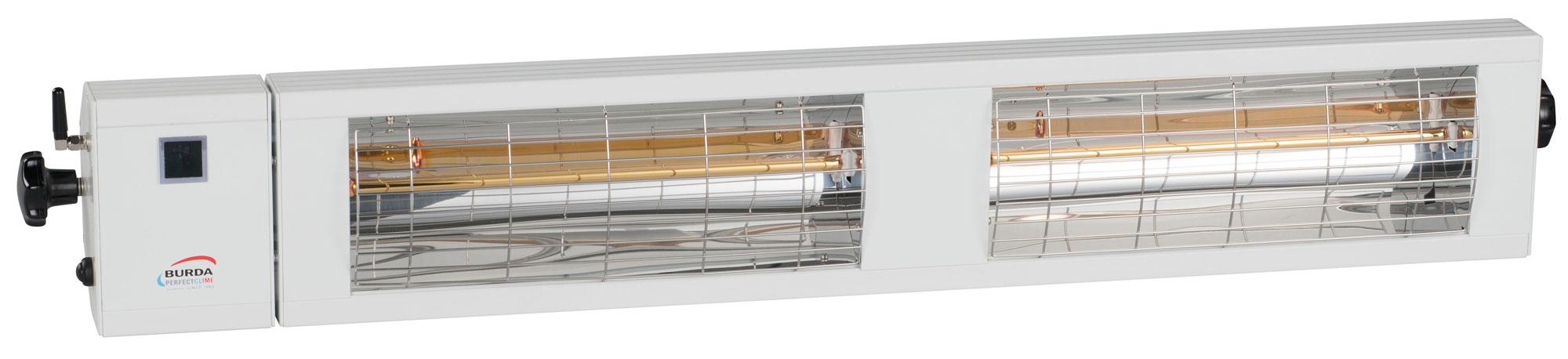 Burda Infrarot Heizstrahler SMART Multi BT IP24 2x1,5kW weiß Bild 1
