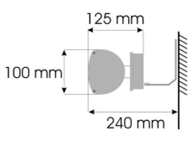Burda Infrarot Heizstrahler TERM2000 IP67 Multi 1,65 kW Bild 3