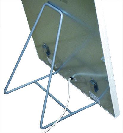 Edelstahlständer für Infrarot - Wärmewellen - Heizung Bild 2