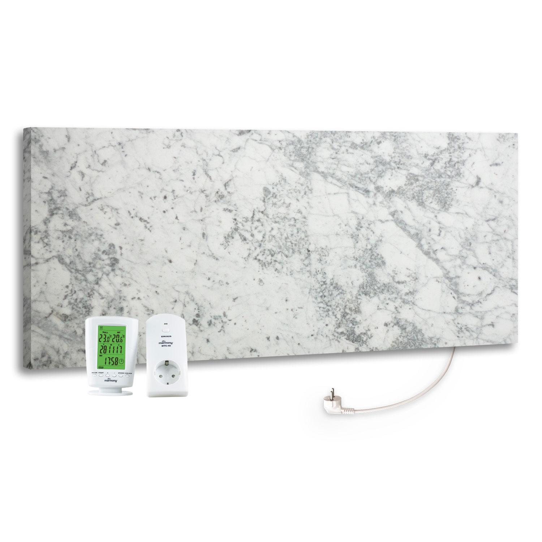 Marmony Infrarotheizung C780 PLUS Carrara mit Thermostat 800 Watt Bild 1