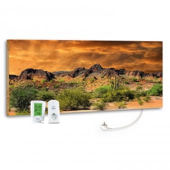 Marmony Infrarotheizung M800 PLUS Adventure Rocks + Thermostat 800W Bild 1