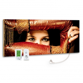 Marmony Infrarotheizung M800 PLUS Arabic Eyes + Thermostat 800W Bild 1