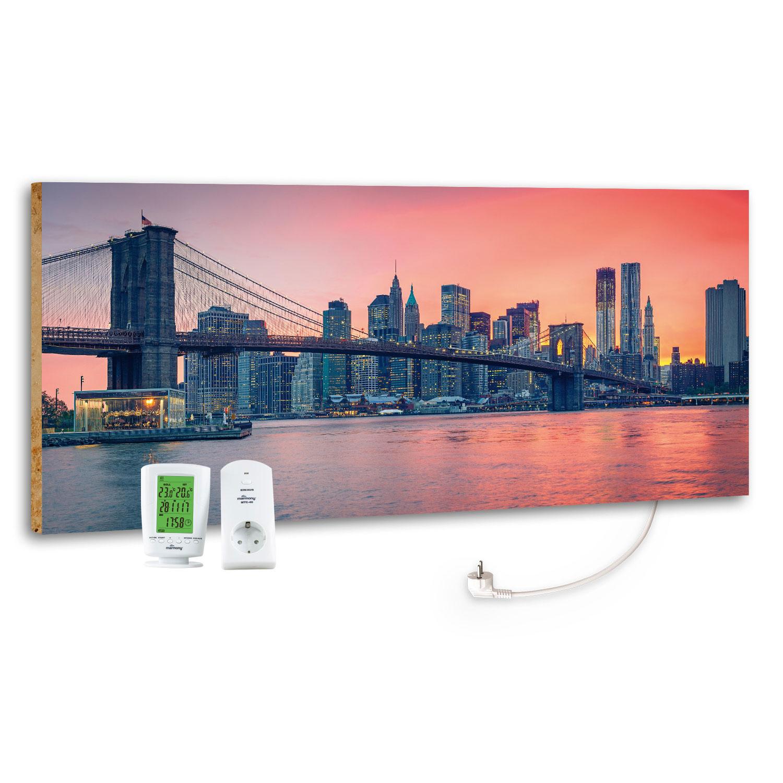 Marmony Infrarotheizung M800 PLUS City Sunset + Thermostat 800W Bild 1