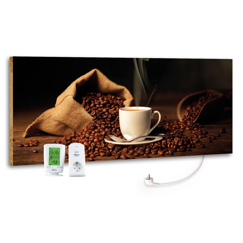 Marmony Infrarotheizung M800 PLUS Coffeetime + Thermostat 800W Bild 1