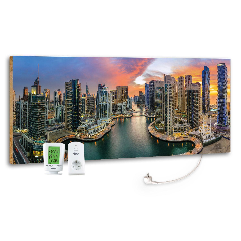 Marmony Infrarotheizung M800 PLUS Dubai Marina + Thermostat 800W Bild 1