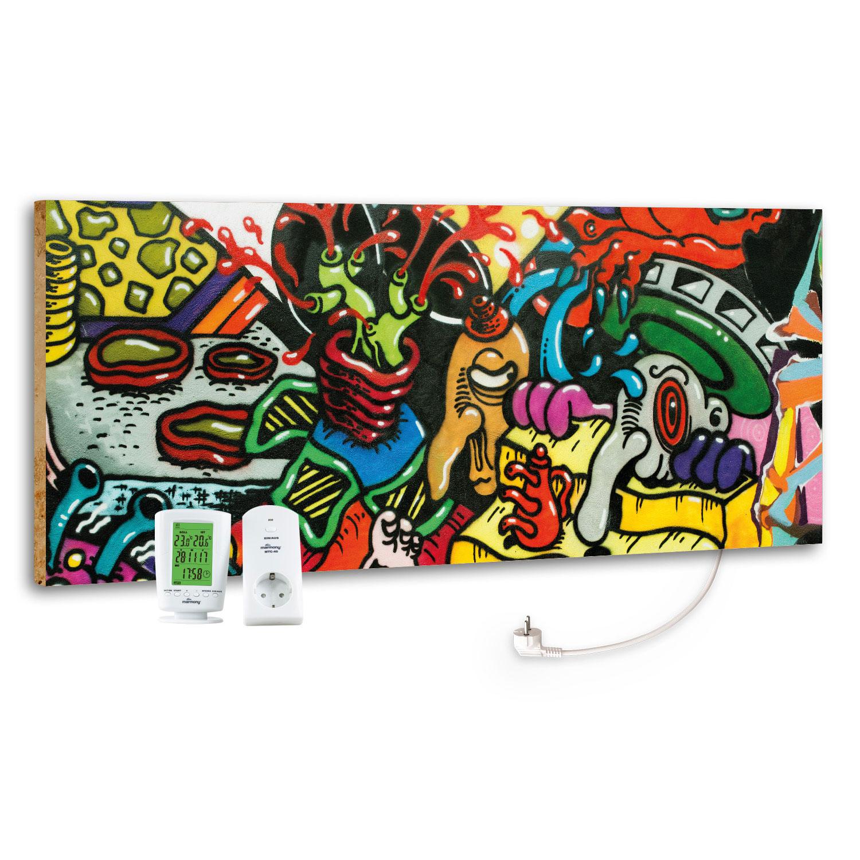 Marmony Infrarotheizung M800 PLUS Graffiti + Thermostat 800W Bild 1
