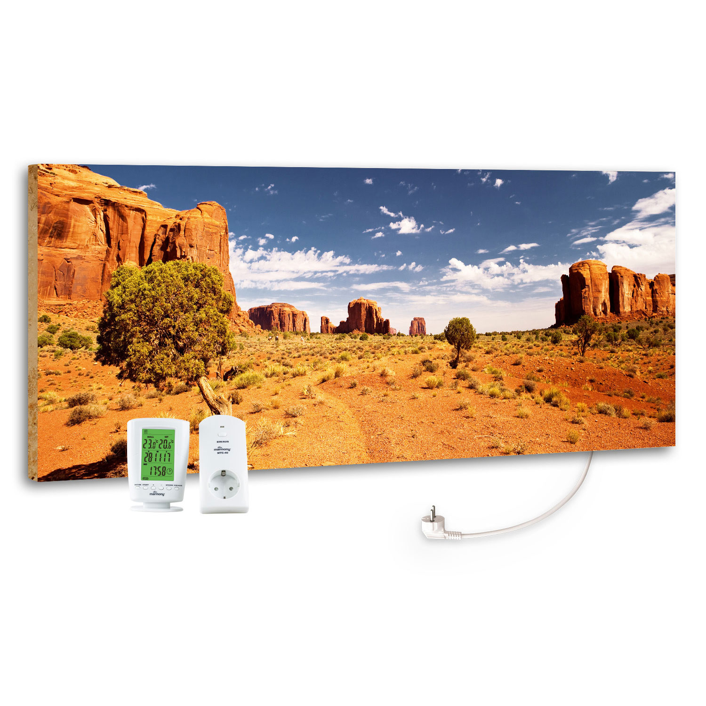 Marmony Infrarotheizung M800 PLUS Monument Valley + Thermostat 800W Bild 1