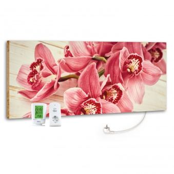 Marmony Infrarotheizung M800 PLUS Pink Orchidee + Thermostat 800W Bild 1