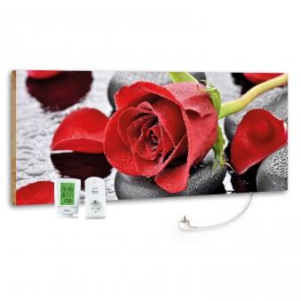 Marmony Infrarotheizung M800 PLUS Red Rose + Thermostat 800W Bild 1