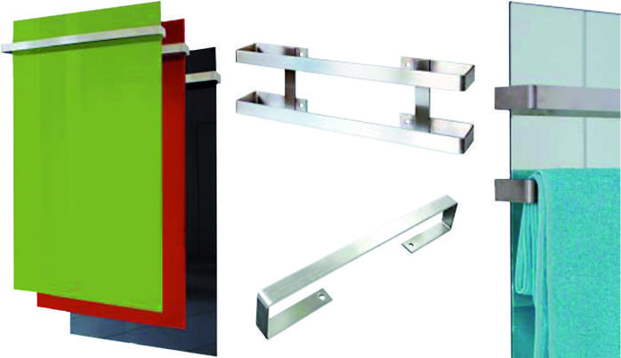 handtuchhalter doppelt edelstahl f r infrarotheizung gr 900 bei. Black Bedroom Furniture Sets. Home Design Ideas